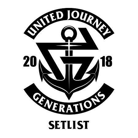 GENERATIONS LIVE TOUR 2018 UNITED JOURNEY SET LIST 專輯封面