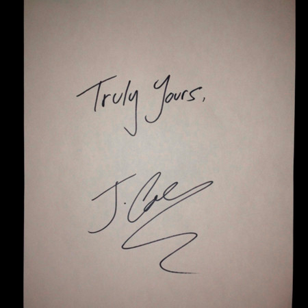 Truly Yours, J. Cole 專輯封面