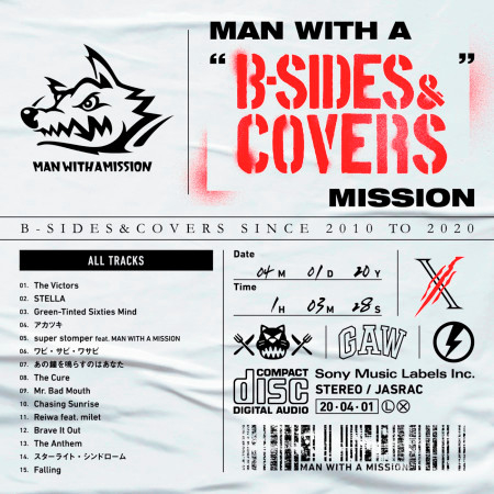 """MAN WITH A """"B-SIDES & COVERS"""" MISSION 專輯封面"""