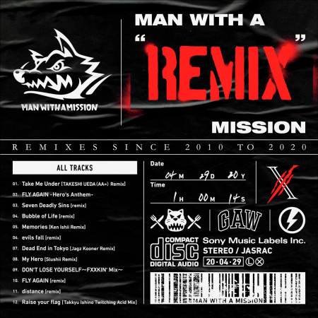 """MAN WITH A """"REMIX"""" MISSION 專輯封面"""