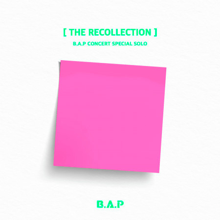 B.A.P CONCERT SPECIAL SOLO 'THE RECOLLECTION' 專輯封面