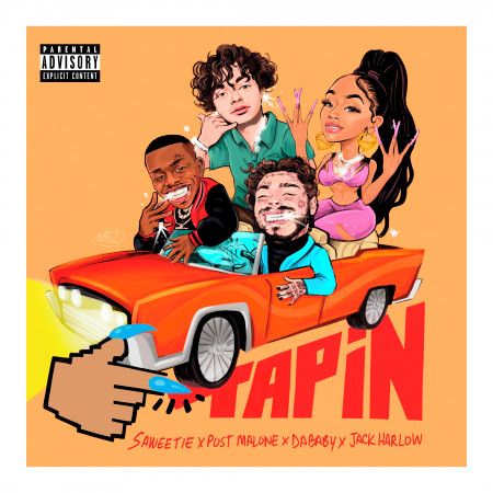 Tap In (feat. Post Malone, DaBaby & Jack Harlow) 專輯封面