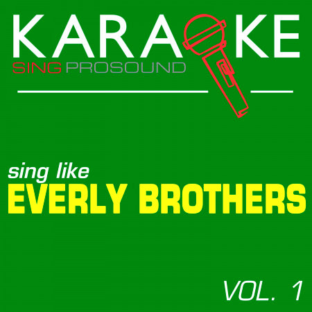 Karaoke in the Style of Everly Brothers, Vol. 1 專輯封面