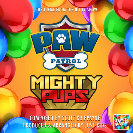 """Paw Patrol Mighty Pups Main Theme (From """"Paw Patrol Mighty Pups"""") 專輯封面"""