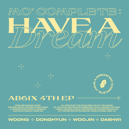 MO' COMPLETE: HAVE A DREAM 專輯封面
