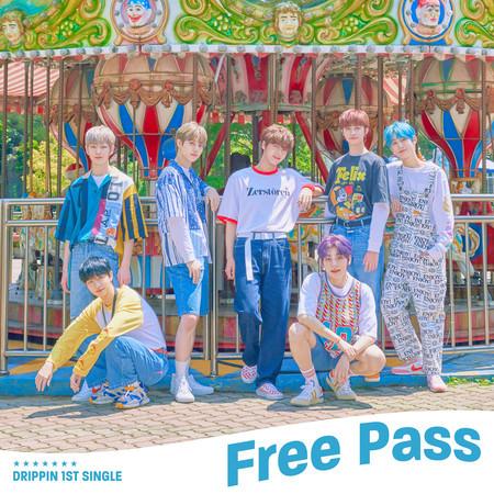 DRIPPIN 1st Single Album [Free Pass] 專輯封面